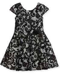 Zoe - Lovely Lace Contrast Overlay Dress - Lyst