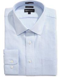 Neiman Marcus - Classic-fit Regular-finish Herringbone-print Dress Shirt - Lyst