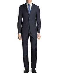 Hickey Freeman - Men's Pinstriped Two-piece Wool Suit - Lyst