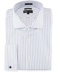 Neiman Marcus - Classic-fit Regular Finish Striped Dobby Dress Shirt - Lyst