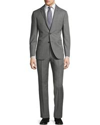 DKNY - Slim-fit Solid Wool Two-button Suit - Lyst