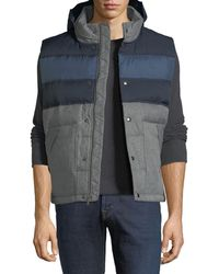 Original Penguin - Quilted Colorblock Puffer Jacket - Lyst