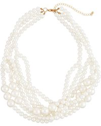 Romeo and Juliet Couture - Multi-strand Iridescent Pearly Necklace - Lyst