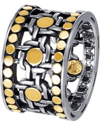 John Hardy - Dot Two-tone Band Ring - Lyst
