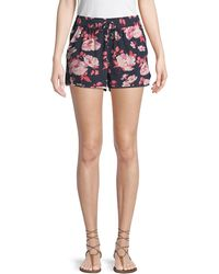 Joie - Layana Floral Chiffon Shorts - Lyst
