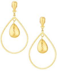 Gurhan - Hoopla 24k Hammered Pear Geo Dangle Earrings - Lyst