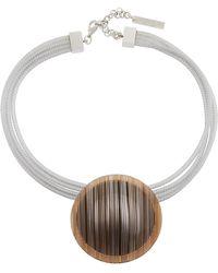Lafayette 148 New York - Multi-strand Orb Pendant Collar Necklace - Lyst