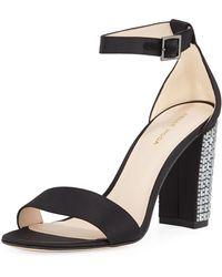 Pelle Moda - Bonnie Jeweled-heel Sandals - Lyst