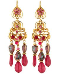 Jose & Maria Barrera - Hearts & Filigree Drop Earrings - Lyst