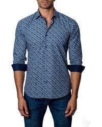 Jared Lang - Men's Semi-fitted Tiny Floral-print Sport Shirt - Lyst