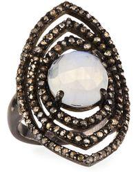 Bavna - Moonstone Marquise Ring - Lyst