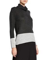 Donna Karan - Boxy-fit Turtleneck Sweater - Lyst