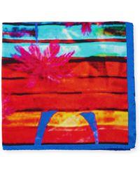 Bugatchi - Palm Tree-print Silk Pocket Square - Lyst