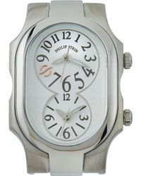 Philip Stein - Rectangle Dual Time Watch Head - Lyst