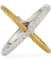 Alor | Crisscross Diamond Cable Ring | Lyst