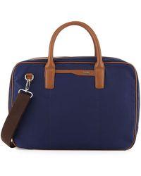 Cole Haan - Leather-trim Nylon Zip-around Briefcase - Lyst
