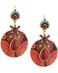 Jose & Maria Barrera - Jasper & Decoupage Drop Earrings - Lyst