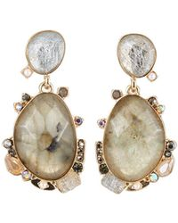 Lydell NYC - Mixed-stone Drop Earrings - Lyst