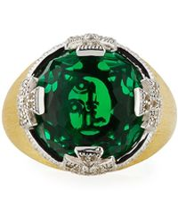 Jude Frances - Maltese Stone Ring W/ Emerald Quartz - Lyst