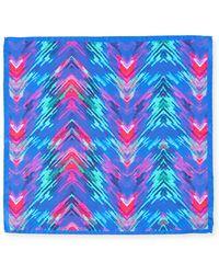 Bugatchi - Electric Tie-dye Silk Pocket Square - Lyst
