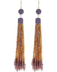 Lydell NYC - Linear Tassel Drop Earrings - Lyst