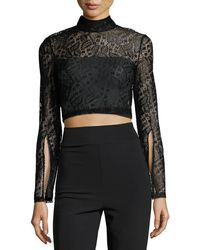 MINKPINK - Damsel Lace Cropped Top - Lyst