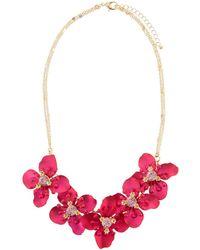 Fragments - Flower Cluster Short Necklace - Lyst