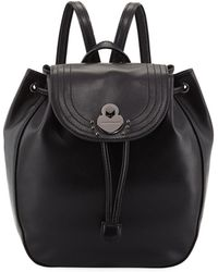 2a007d20874b Lyst - Longchamp 2.0 Small Leather Backpack Bag in Black