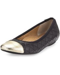 Neiman Marcus - Saucy Quilted Leather Flat - Lyst
