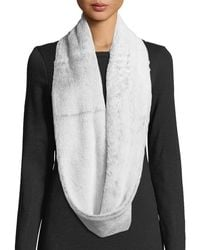 Neiman Marcus - Shaggy Faux-fur Infinity Scarf - Lyst