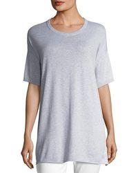 Eileen Fisher - Half-sleeve Organic Peruvian Cotton Tunic - Lyst
