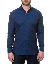 Maceoo - Men's Shaped Fit Wall Street Abc Sport Shirt - Lyst