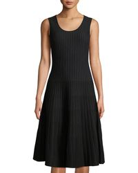 Tomas Maier - Sleeveless Striped Fit-and-flare Dress - Lyst