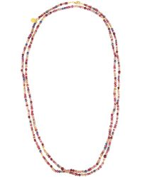 Gurhan - Extra-long Stone & Pearl Single-strand Necklace - Lyst