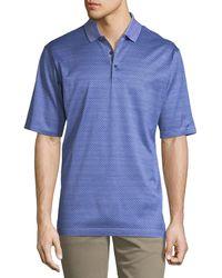 Bugatchi - Men's Short-sleeve Mercerized Knit Polo Shirt - Lyst