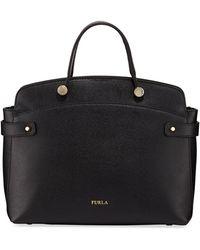 Furla - Agata Medium Saffiano Leather Tote Bag - Lyst