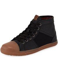 Ben Sherman - Men's Mason High-top Mixed-media Sneakers - Lyst
