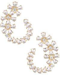 Serefina Ice Flower Front-facing Hoop Earrings