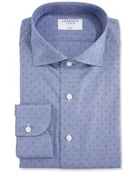 Lorenzo Uomo - Men's Dotted Houndstooth Dress Shirt - Lyst