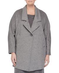 Marina Rinaldi - Nobile One-Button Wool Jacket - Lyst