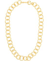 Stephanie Kantis - Circle-link 24k Gold-plated Necklace - Lyst