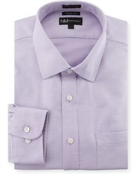 Neiman Marcus | Non-iron Trim-fit Textured Dress Shirt | Lyst