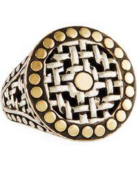 John Hardy - Mixed Metal Dot Ring Size 7 - Lyst