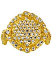 Freida Rothman Pave Disc Ring Size 5-9