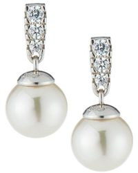 Majorica - You & I Manmade Pearl Drop Earrings - Lyst