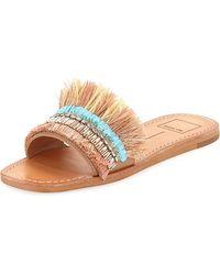 Dolce Vita - Cadiz Fringed Embellished Sandal - Lyst
