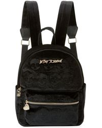 Betsey Johnson - Velvet Skulls Medium Backpack - Lyst