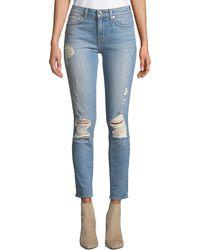 10 Crosby Derek Lam - Devi Mid-rise Authentic Skinny Jeans - Lyst