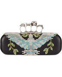 Alexander McQueen - Crystal Dove Knuckle Box Clutch Bag - Lyst