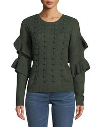 861b13ce1755 Philosophy - Cable-knit Sweater With Ruffled Sleeve - Lyst
